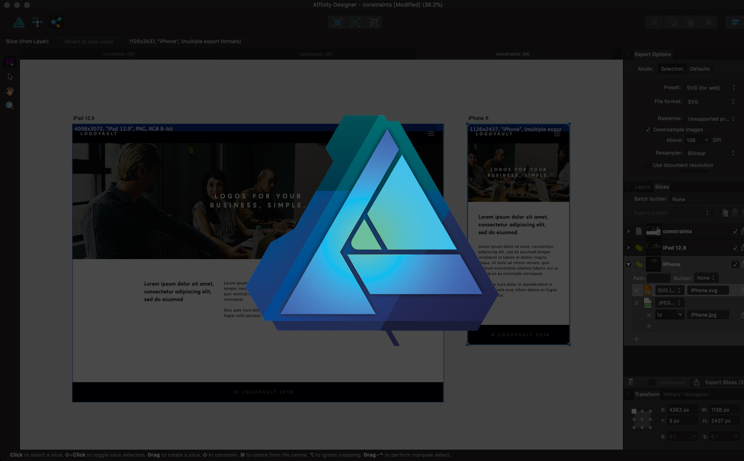 Flipboard: Affinity Designer: How to use the Export persona