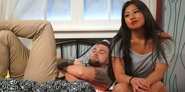 Big Brother 21 Nick and Bella sitting in bed CBS