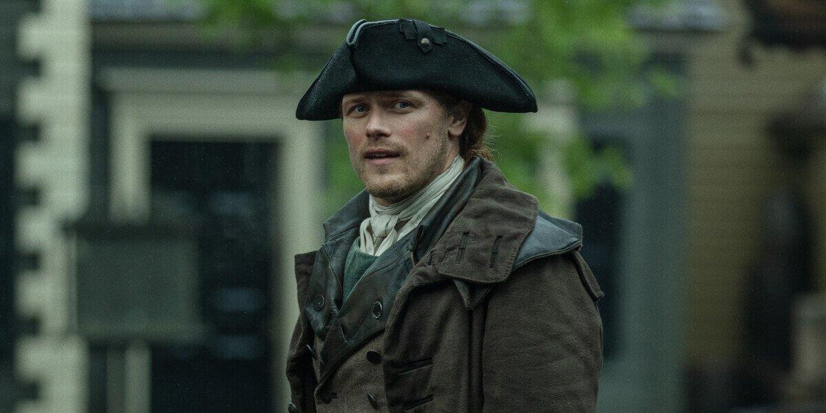 outlander season 5 sam heughan jamie fraser hat starz