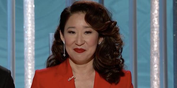 Sandra Oh Golden Globes NBC
