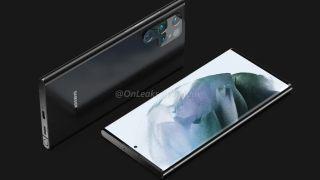 Samsung Galaxy S22 Ultra render shows an odd-shaped camera bump