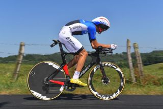 Estonian time trial champion Rein Taaramäe on stage 13 of the 2019 Tour de France