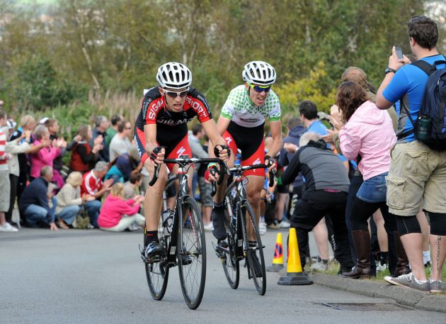 Simon Richardson and Russell Hampton, Tour of Britain 2011, stage four