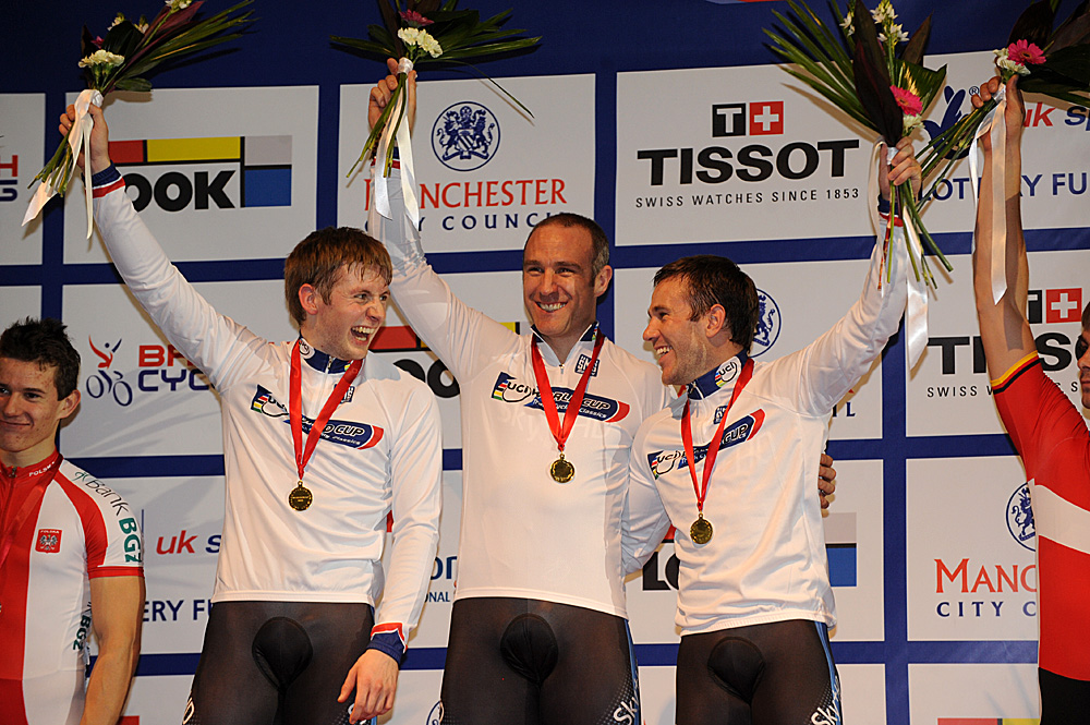 Team Sprint podium