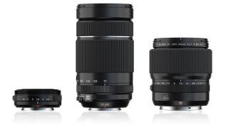 Fujinon XF27mmF2.8 WR, Fujinon XF70-300mmF4-5.6 R LM OIS WR, Fujinon GF80mmF1.7 R WR