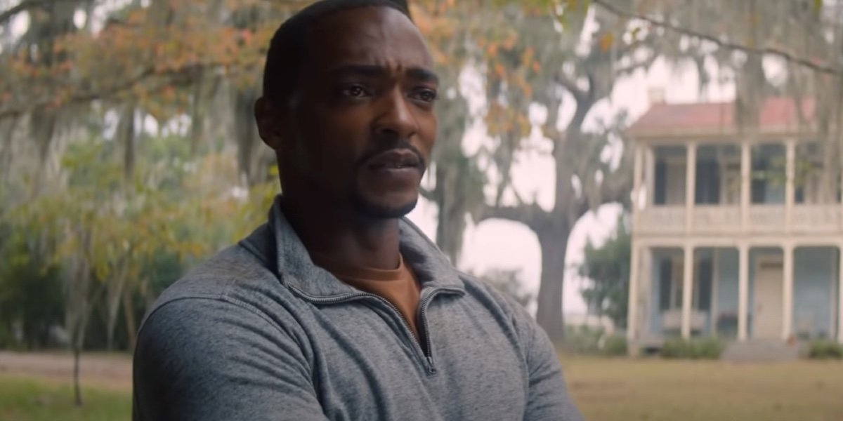 Anthony Mackie as Sam Wilson in The Falcon and The Winter Soldier.