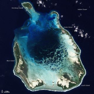 cocas keeling islands coral atoll
