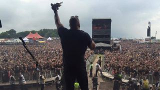 Triple H salutes the Download crowd