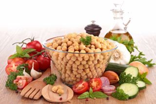 mediterranean diet, chickpea, vegetables