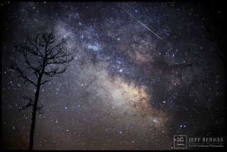 Lyrid Meteor Over Southern Maryland