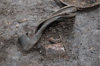 A lady's shoe was found at one of the Nazi massacre sites in Germany.