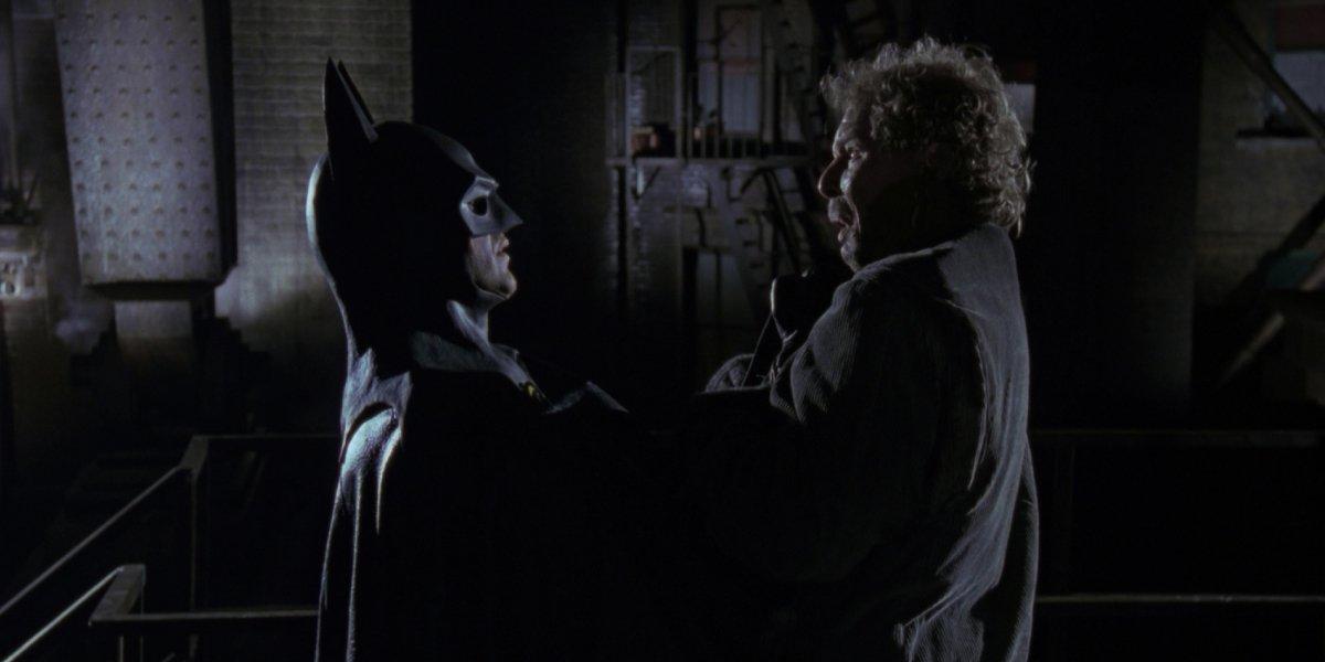 Michael Keaton and Christopher Fairbank in Batman