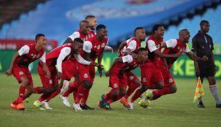 Tshakhuma Tsha Madzivhandila players celebrates a victory