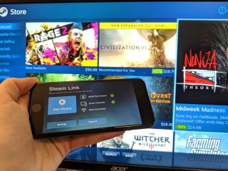 The Steam Link app on iOS