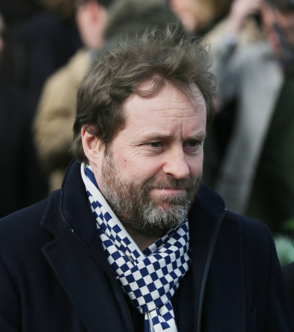 Ardal O'Hanlon at the funeral of late actor Frank Kelly