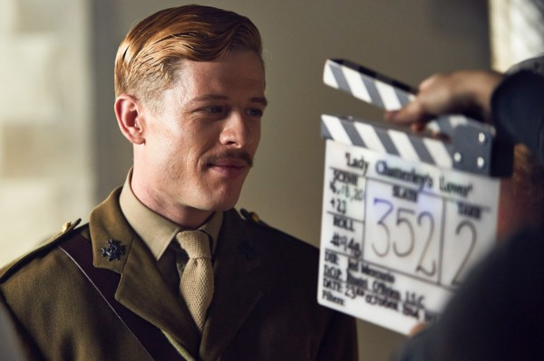 James Norton filming Lady Chatterley's Lover (BBC Pictures)