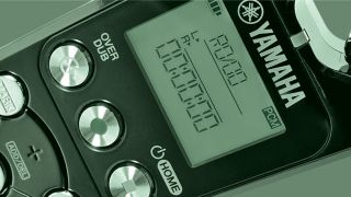 A close-up of a Yamaha voice recorder