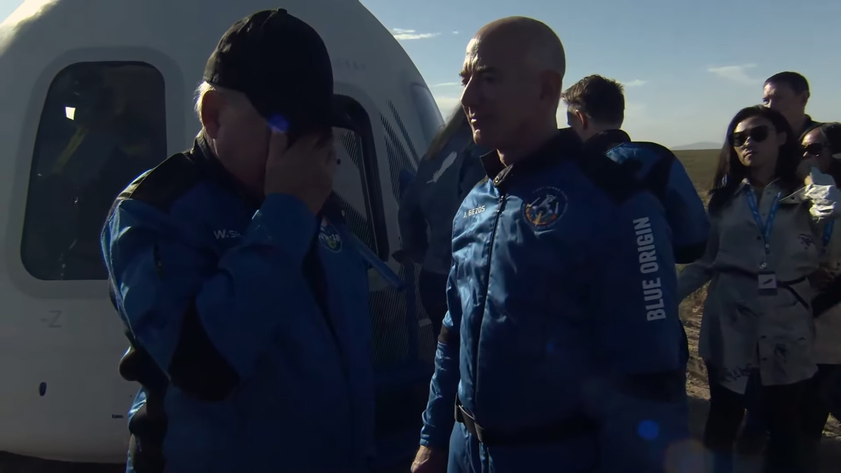 William Shatner moved to tears by space launch with Blue Origin