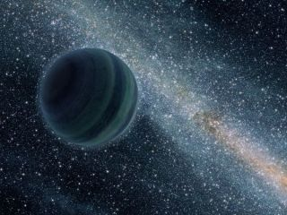 An artist's impression of a gaseous exoplanet