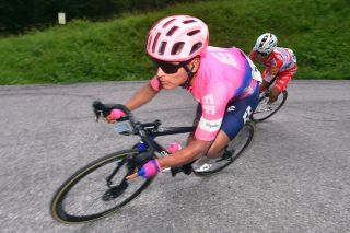 EF Education First's Jonathan Caicedo at the 2019 Adriatica Ionica Race, where he finished fourth overall