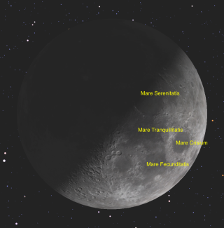 First-Quarter Moon on March 27, 2015