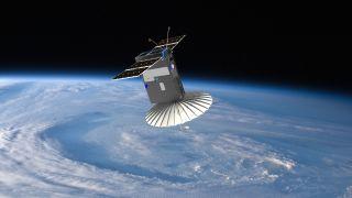 NASA's little RainCube satellite main antennas