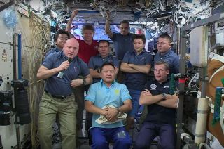 International Space Station Crew Members on Sept. 8, 2015