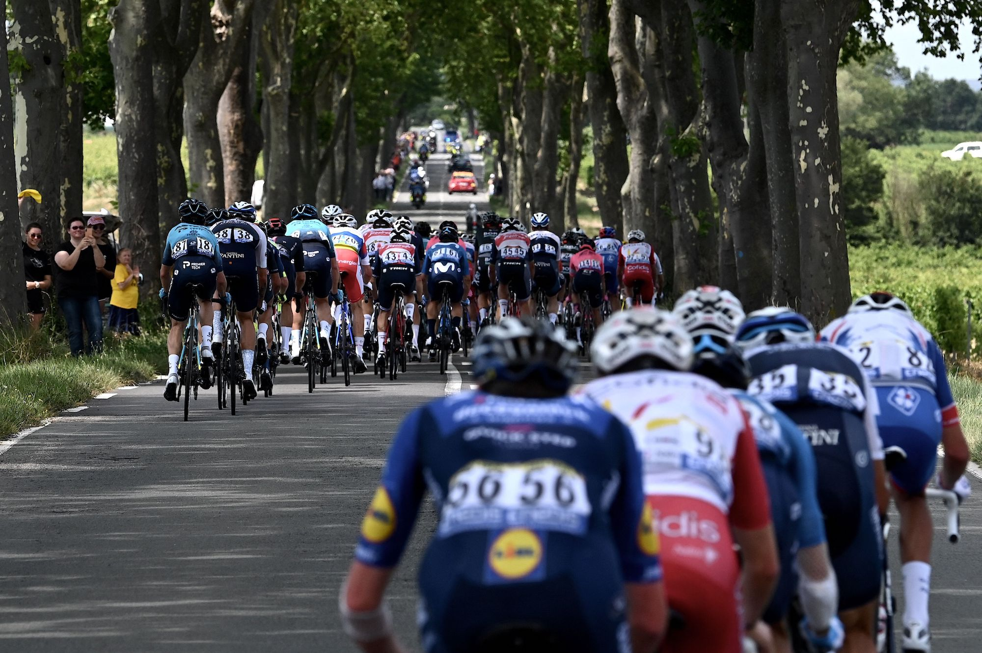 Riders on stage 14 of the 2021 Tour de France