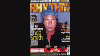 Rhythm November 1999 cover with Chad Smith of the Red Hot Chili Peppers