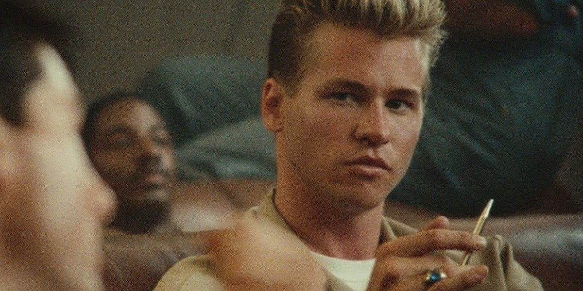 "Val Kilmer as Tom ""Iceman"" Kazansky in Top Gun (1984)"