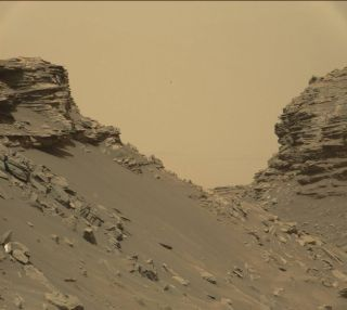 Rocky hillside on Mars