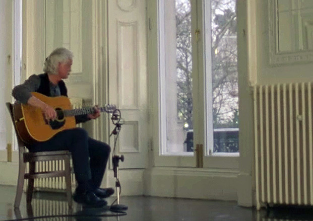 Jimmy Page Jams Alone for Two and a Half Minutes on Acoustic Guitar