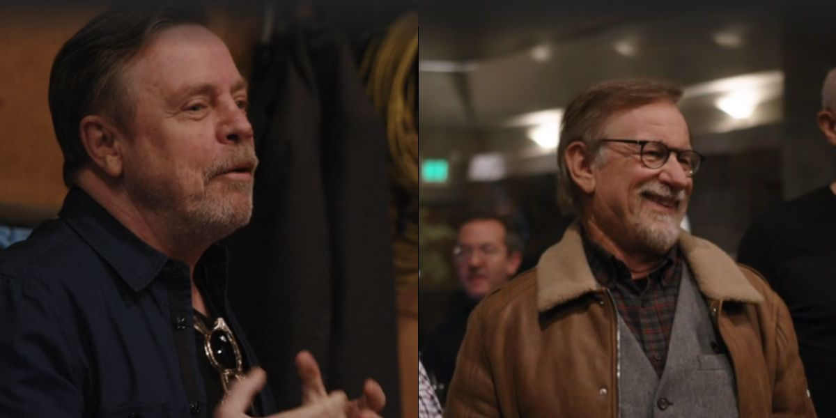 Mark Hamill and Steven Spielberg side by side