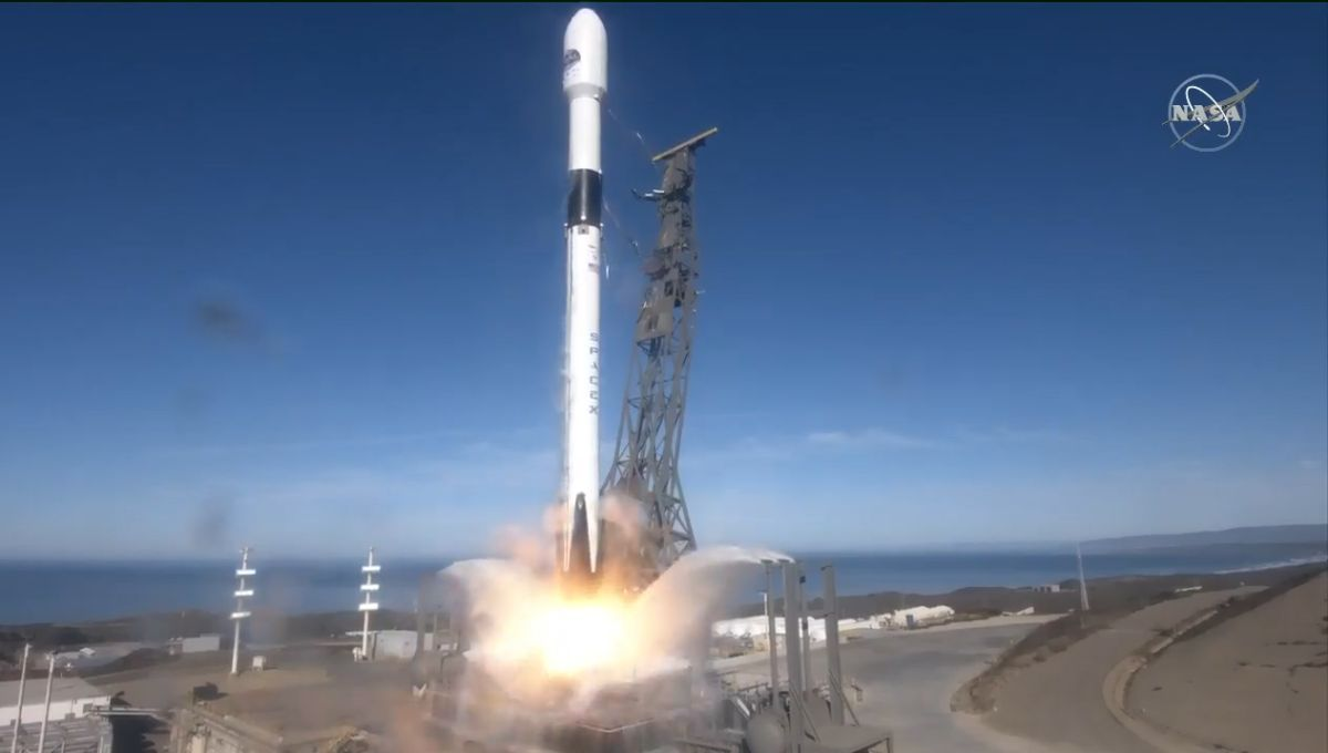 SpaceX launches advanced ocean-mapping satellite for NASA and Europe, nails rocket landing