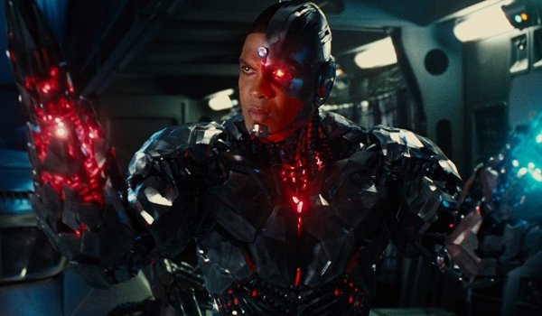 Justice League Cyborg trying out his new arms for size