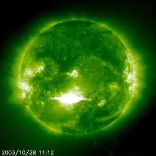 Halloween Solar Flare of October 2003