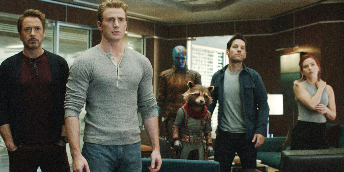 Avengers: Endgame Tony Steve Nebula Rocket Scott Natasha