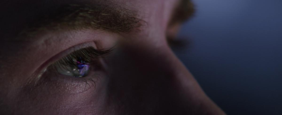 Chris Evans as Steve Rogers in space in Avengers: Endgame