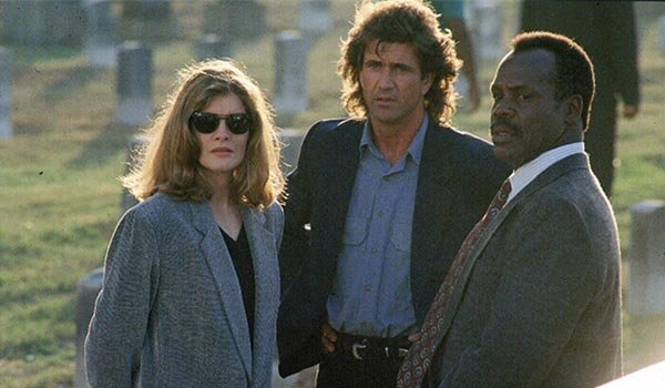 Rene Russo, Mel Gibson and Danny Glover in Lethal Weapon 3
