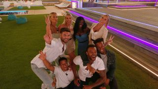 Love Island 2021 - the final four couples pose for a selfie together