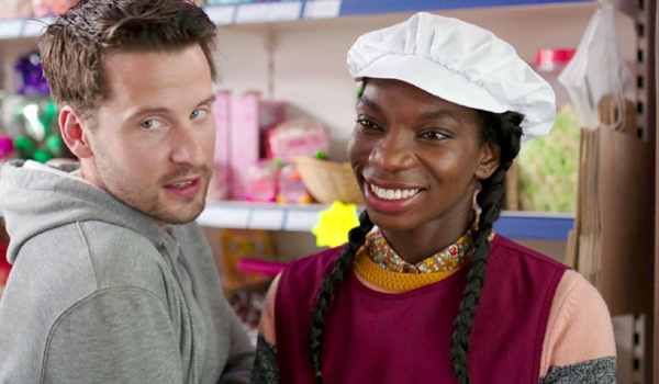 Chewing Gum Michaela Coel smiles as Tracey Gordon Netflix
