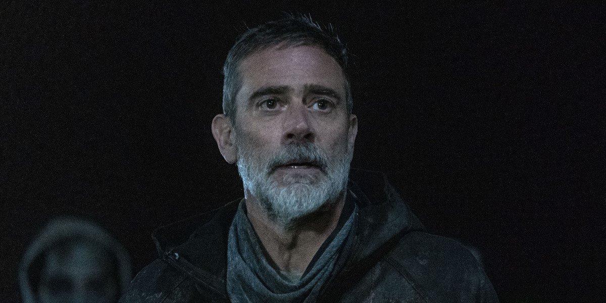 jeffrey dean morgan's negan at night on the walking dead season 11