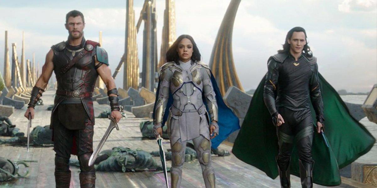 Thor Valkyrie and Loki in Thor Ragnarok