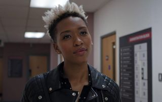 Genesis Lynea made memorable debut on Casualty as doctor Archie Hudson (C) BBC - Photograph