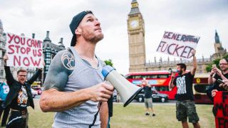 Tim Commerford from Wakrat in Parliament Square