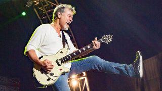 Eddie Van Halen performs live
