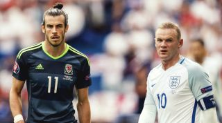 Gareth Bale and Wayne Rooney