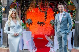 Darren and Mandy wedding day in Hollyoaks
