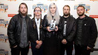 Venom Prison with their Metal Hammer Golden God award