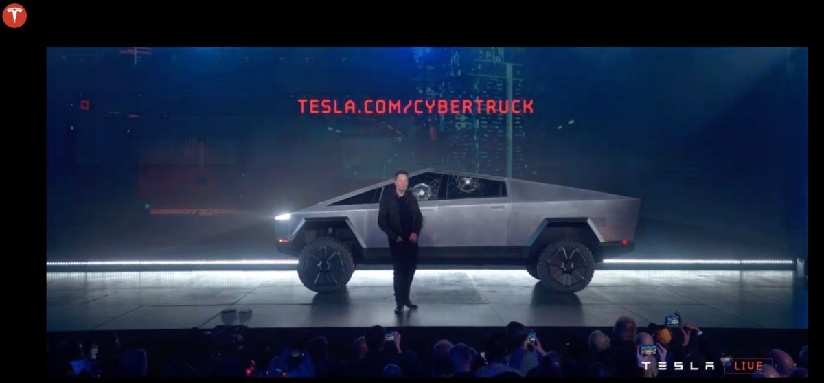 Tesla's New 'Cybertruck' Has a Bit of SpaceX's Starship for Mars in Its Bones